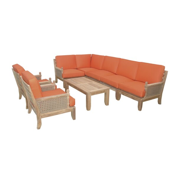 Luxe Modular 4 Piece Sectional Seating Group by Anderson Teak