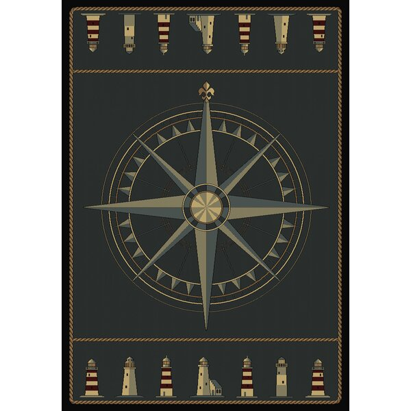 Huntwood Compass Novelty Area Rug by Beachcrest Home