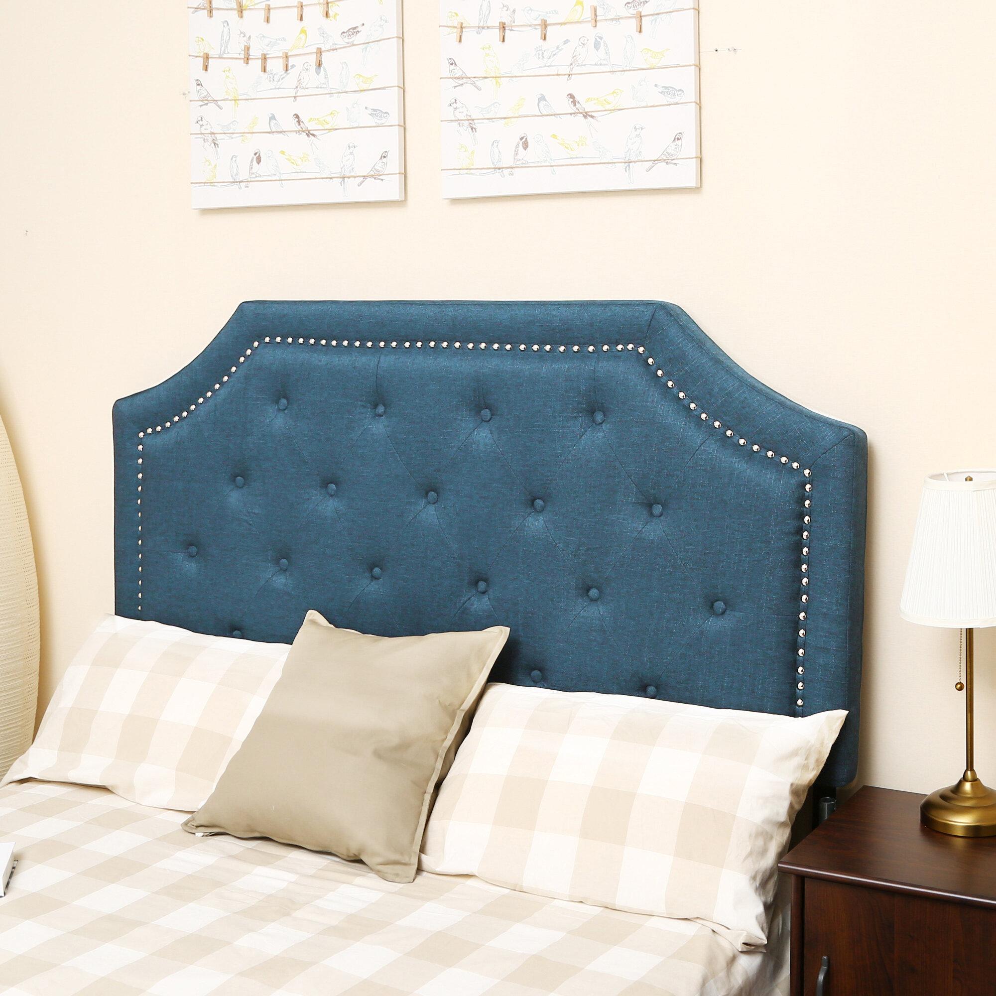 Charlton Home Novalee Queen Full Upholstered Panel Headboard Reviews Wayfair