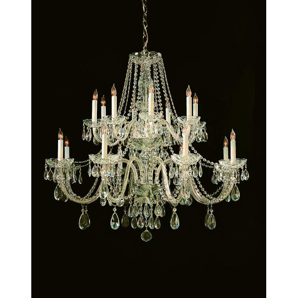 Milan 16 - Light Candle Style Tiered Chandelier by House of Hampton House of Hampton