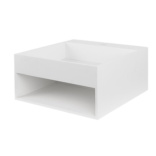 Rebecca Solid Surface Stone 20 Wall Mount Bathroom Sink by Maykke