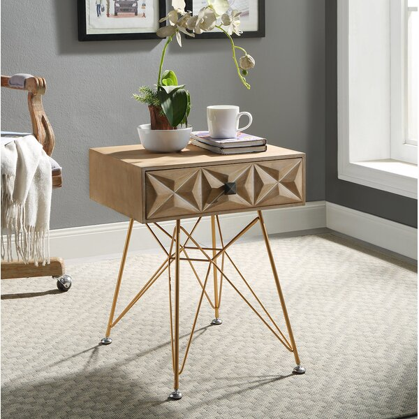 Hadfield End Table With Storage by Joss & Main