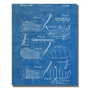 'Golf Club' Graphic Art Print on Wrapped Canvas by Williston Forge