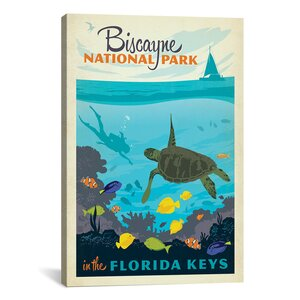 Biscayne National Park, Florida Keys by Anderson Design Group Vintage Advertisement on Canvas by iCanvas