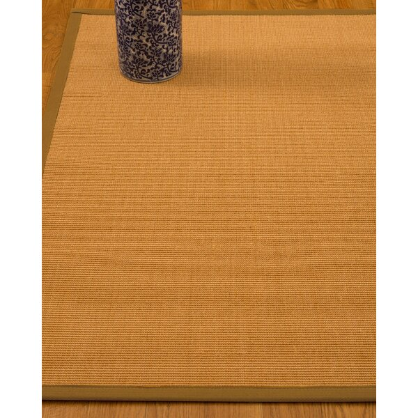 Gregory Hand-Woven Beige Area Rug by Bay Isle Home