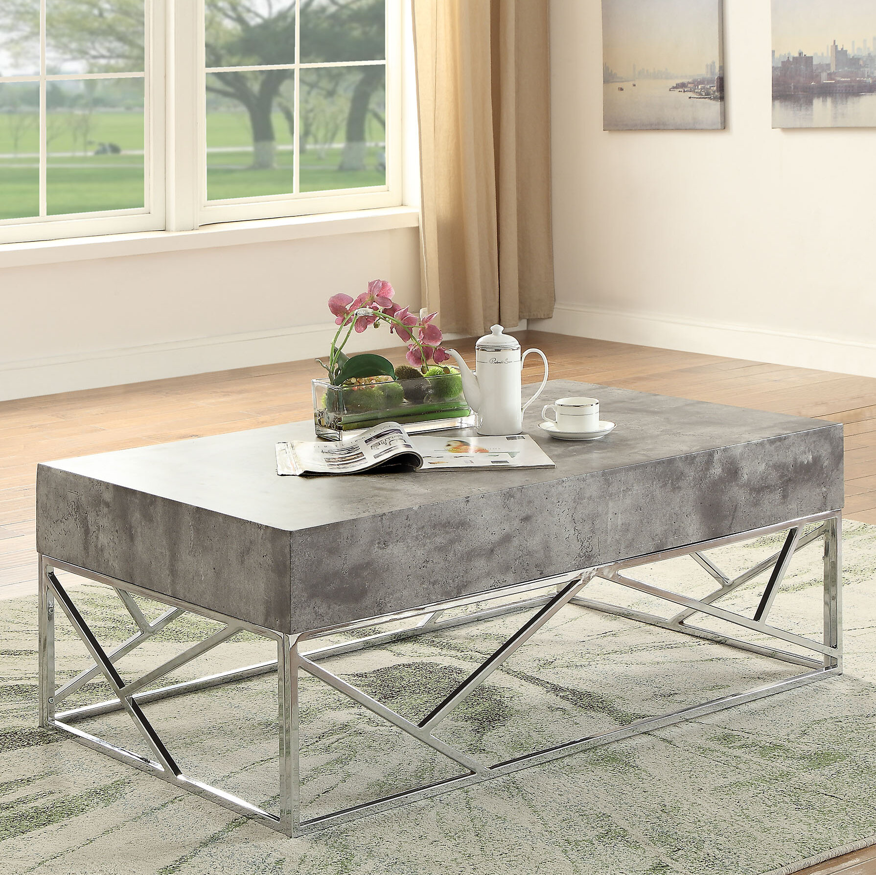 Orren Ellis Hutson Coffee Table | Wayfair