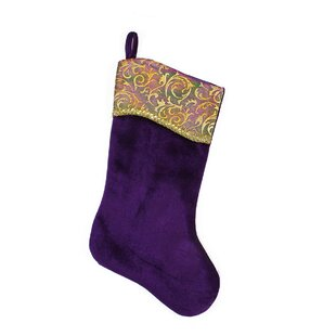 regal peacock christmas stocking - Purple Christmas Stocking