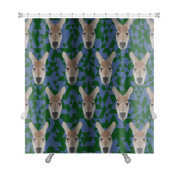 Animals Polygonal Kangaroo Premium Shower Curtain by Gear New