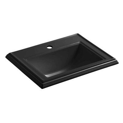 Drop Sink Ceramic Rectangular Overflow Faucet Single 1184 Product Photo