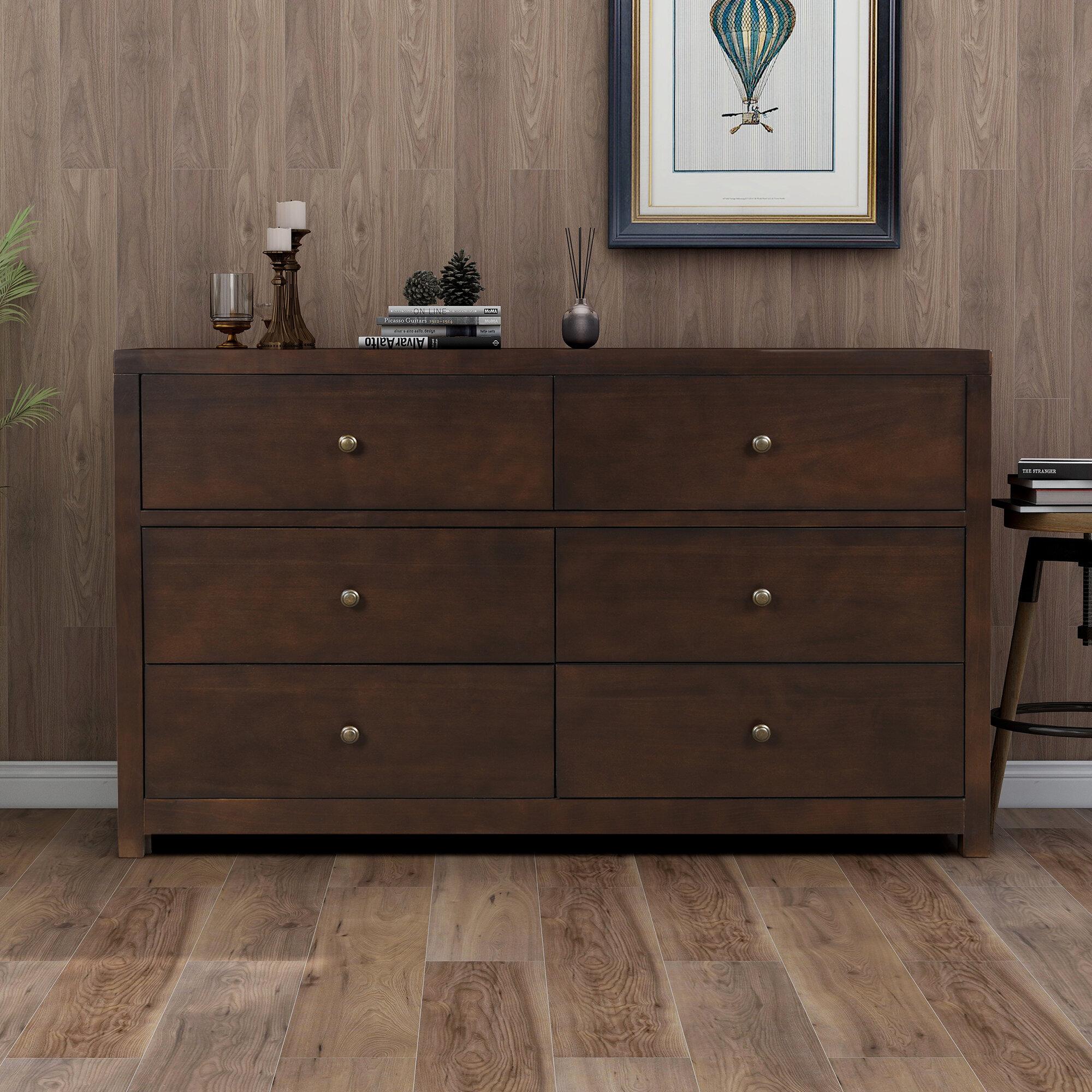 Red Barrel Studio Arabel 6 Drawer Double Dresser Wayfair