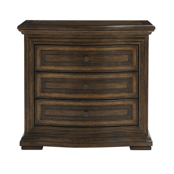 Salyer 3 Drawer Nightstand by Alcott Hill