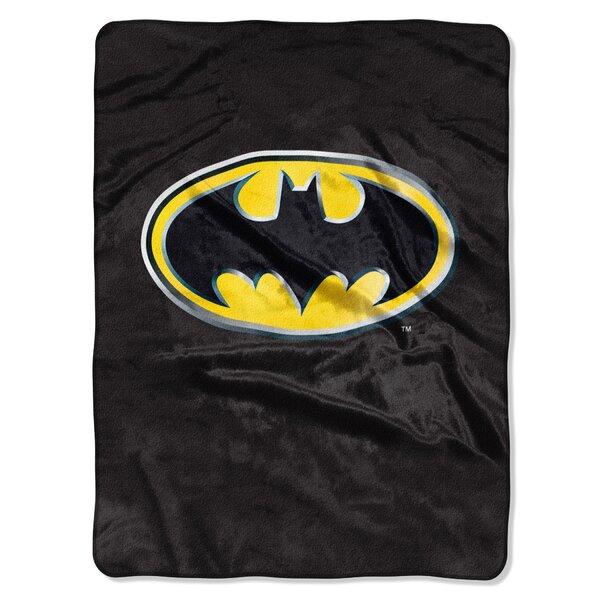 Batman Emblem Plush Blanket by Cozy Linen