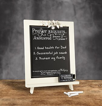 Prayer Requests Free Standing Chalkboard by CB Gift