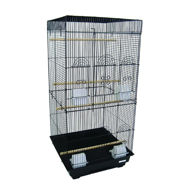 Tall Square Top Small Bird Cage by YML