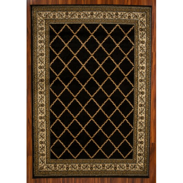 Minnie Black Area Rug by Alcott Hill