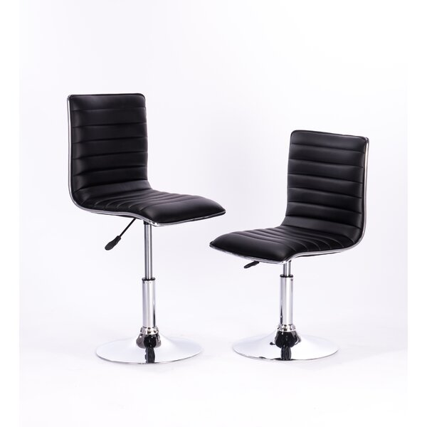 Adjustable Height Swivel Bar Stool by Attraction Design Home