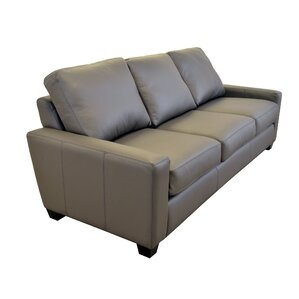 hanson genuine top grain leather sofa