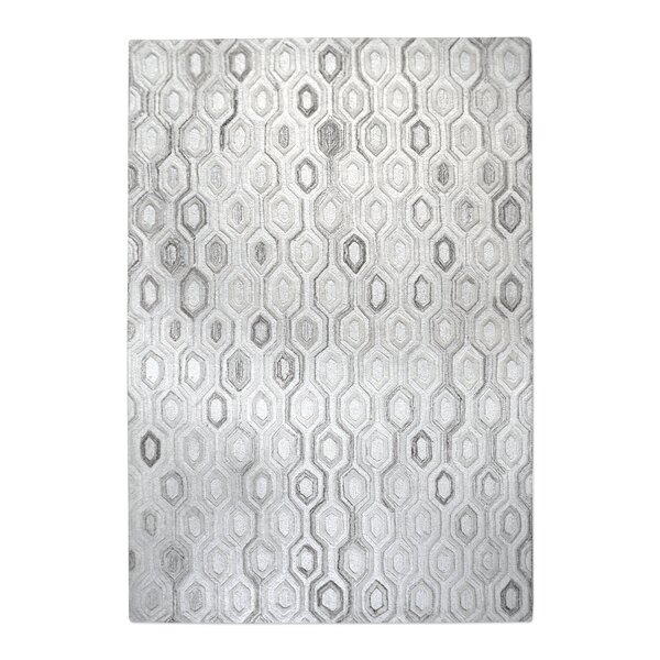 Newsom Hand-Woven Wool Ivory Area Rug by Brayden Studio