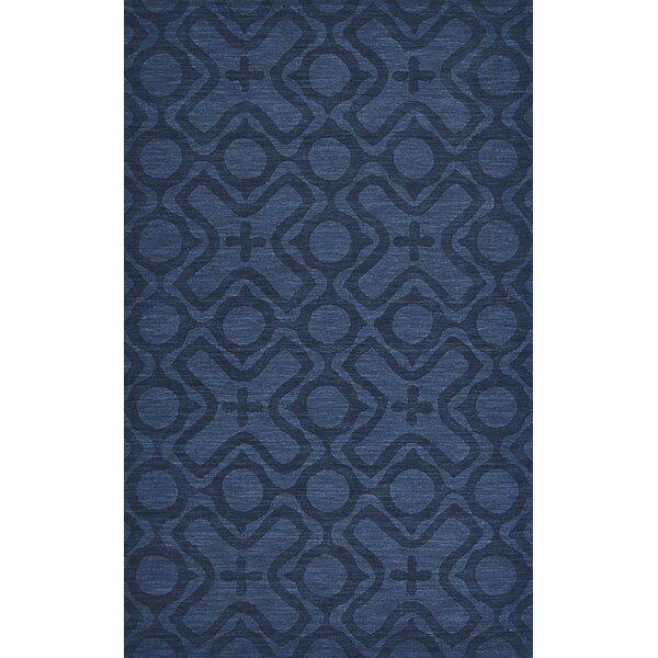 Branam Cobalt Hand Woven Wool Cobalt Area Rug by Mercury Row