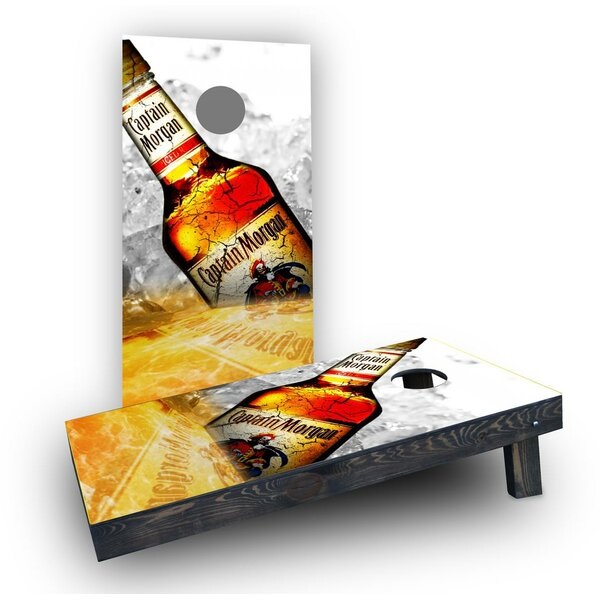 Captain Morgan Cornhole Boards (Set of 2) by Custom Cornhole Boards