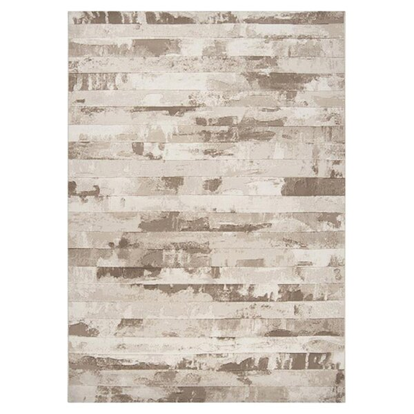 Franklin Cream Stripes Area Rug by Williston Forge