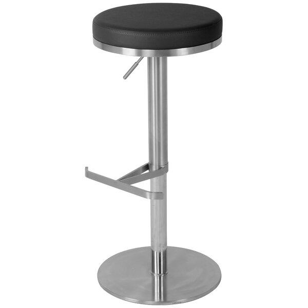 Hairston Adjustable Height Swivel Bar Stool by Ebern Designs