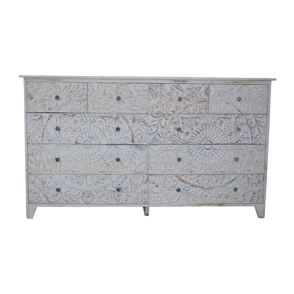 Gebhardt 10 Drawer Double Dresser by Bungalow Rose