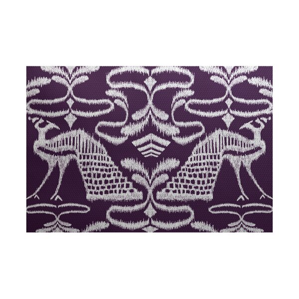 Selina Purple Indoor/Outdoor Area Rug by Red Barrel Studio