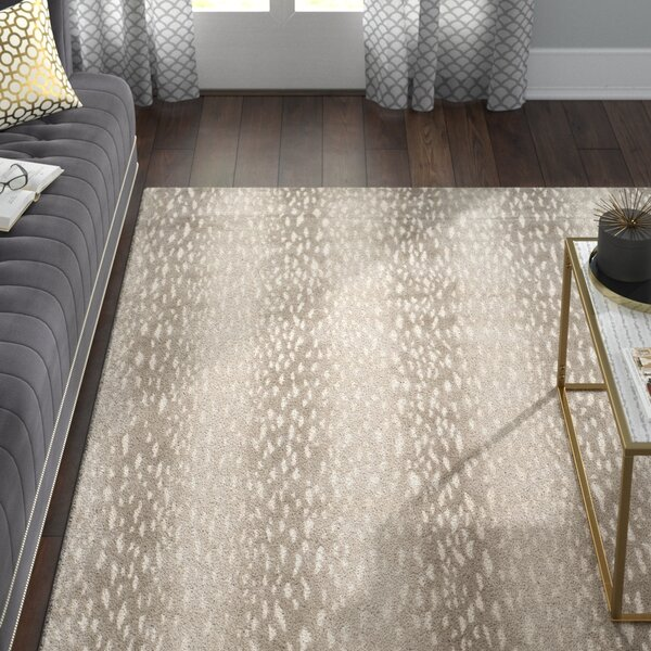 Florus Hand-Knotted Gray Area Rug by Willa Arlo Interiors
