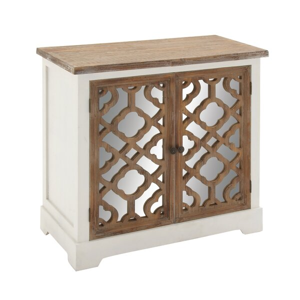 2 Door Wood Mirror Accent Cabinet by Cole & Grey