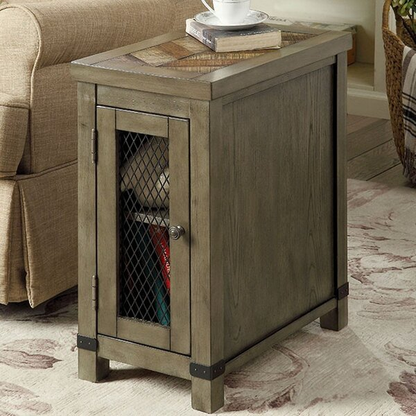 Zilla Rustic End Table with Storage by Union Rustic