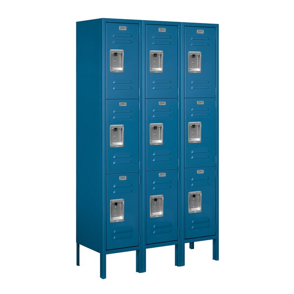 3 Tier 3 Wide School Locker by Salsbury Industries