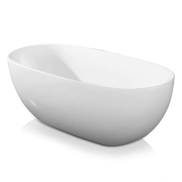 Double Ended 67 x 34 Freestanding Soaking Bathtub by AKDY