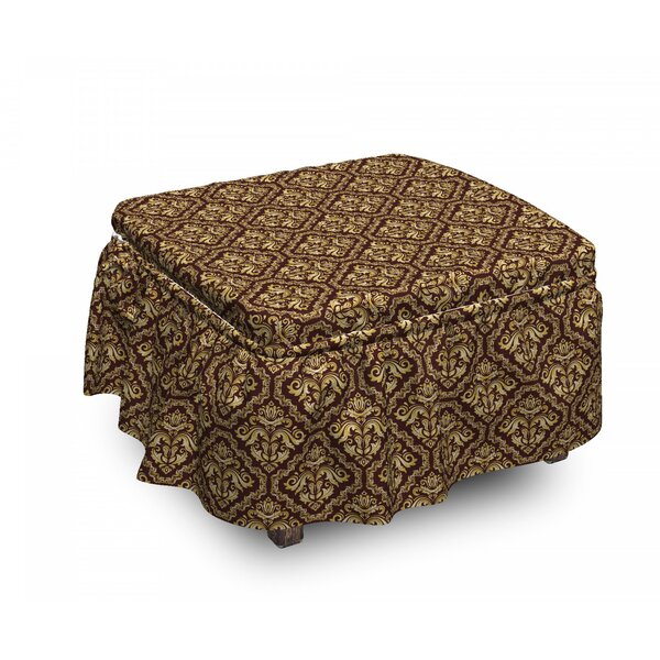 Baroque Ottoman Slipcover (Set Of 2) By East Urban Home
