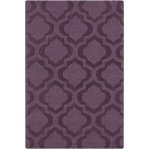 Superior Castro Purple Geometric Kate Area Rug
