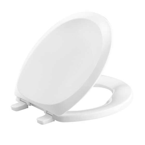 French Curve with Quick-Release Hinges Round-Front Toilet Seat by Kohler