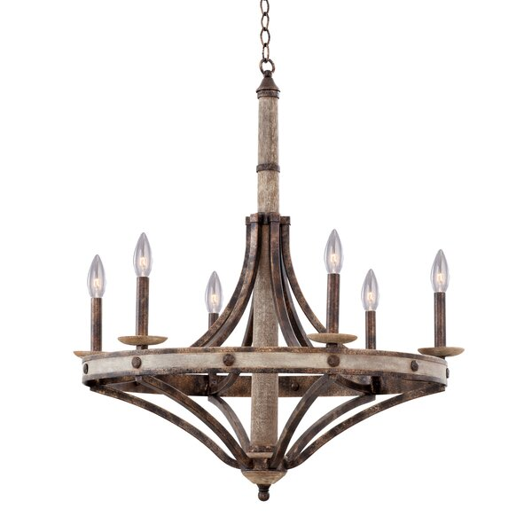 Fiorillo 6 - Light Candle Style Empire Chandelier by Gracie Oaks Gracie Oaks