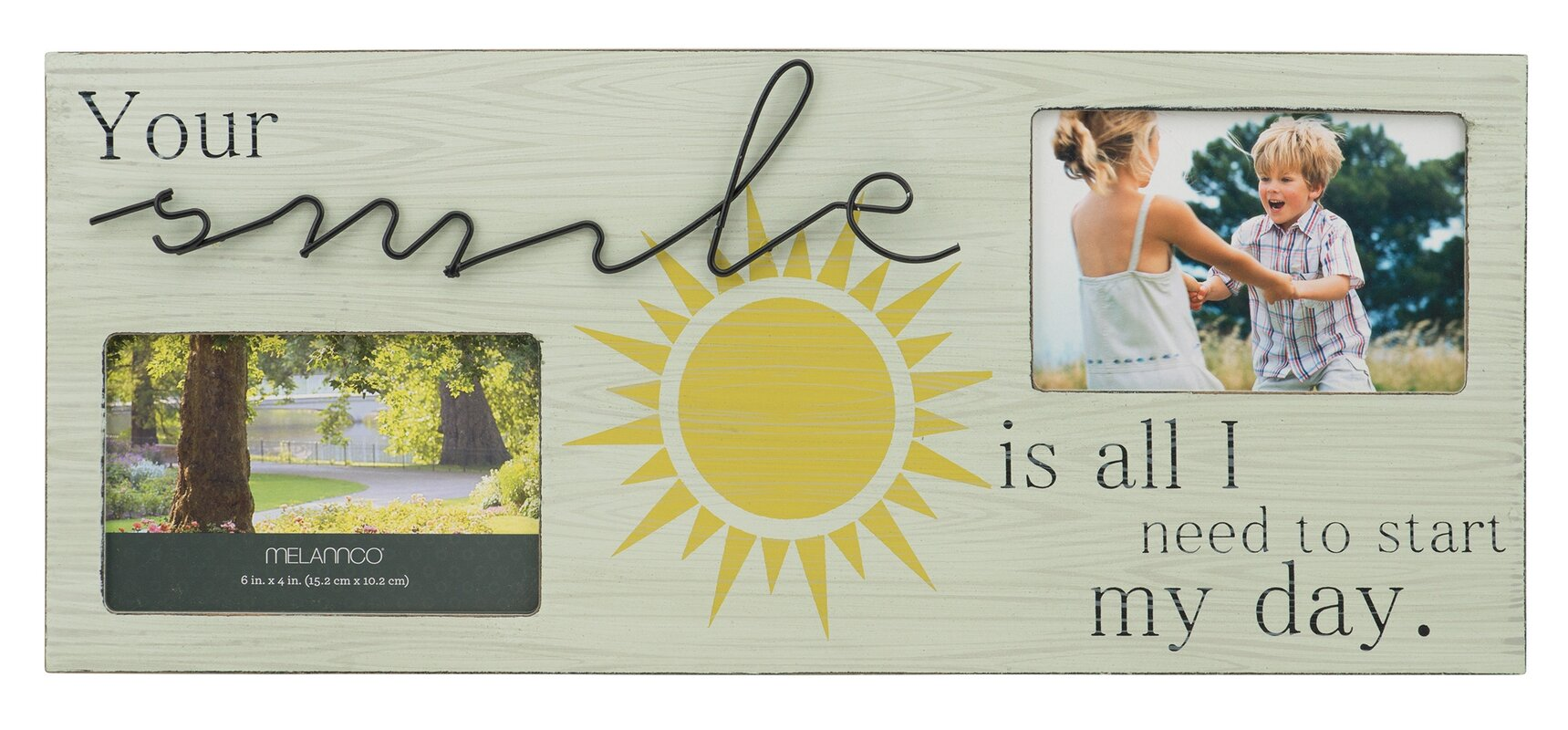 Melannco 2-Opening Smile Sentiment Collage Picture Frame & Reviews ...