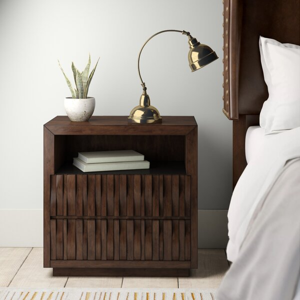 Pinnix 2 Drawer Nightstand by Bloomsbury Market