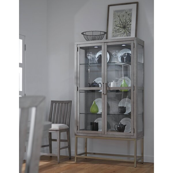 Pingree Lighted China Cabinet by Brayden Studio