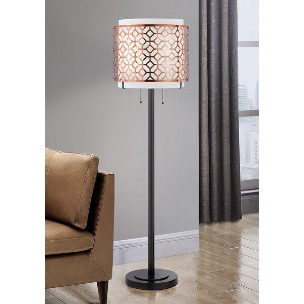 Lindel 61 Floor Lamp by Rosdorf Park