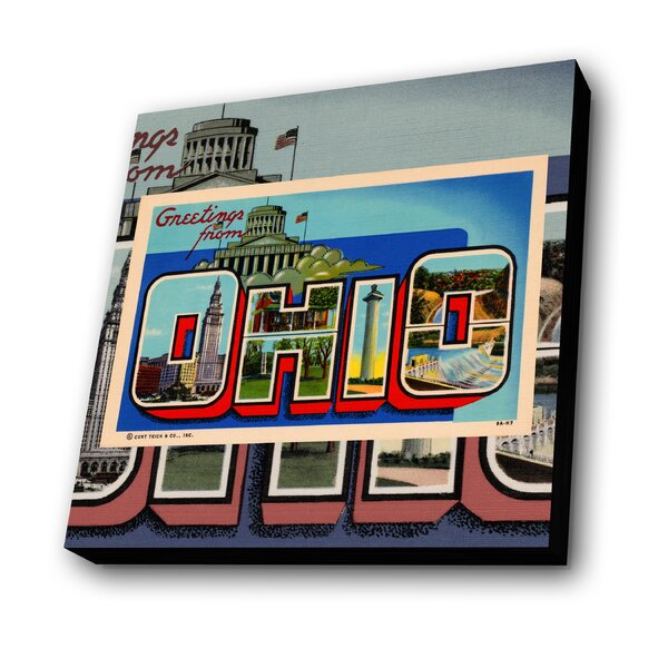 Greetings from Ohio Graphic Art Plaque by Lamp-In-A-Box