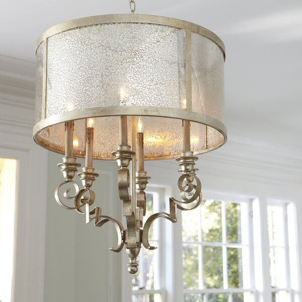 Marysville 8-Light Unique / Statement Drum Chandelier by House of Hampton House of Hampton