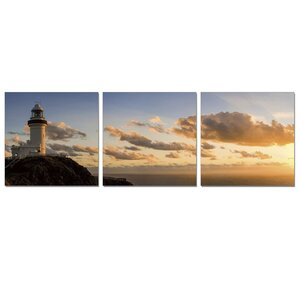 Light House 3 Piece Photographic Print Wrapped Canvas Set by Furinno