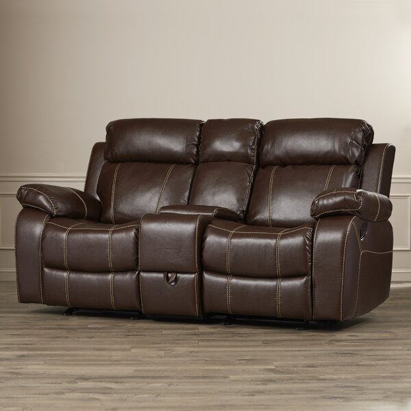 Chestnut Double Gliding Reclining Loveseat by Darby Home Co