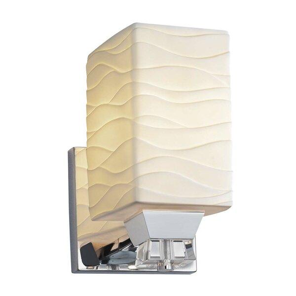Bismark 1-Light LED Armed Sconce by World Menagerie