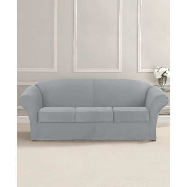 Ultimate Stretch Suede Box Cushion Sofa Slipcover By Sure Fit