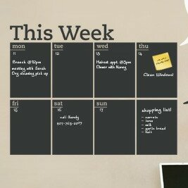 Simpleshapes Weekly Calendar Chalkboard Wall Decal Wayfair