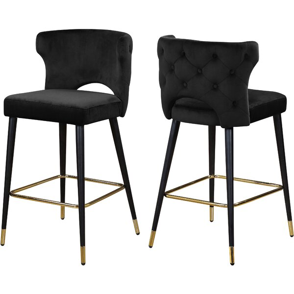 Sanchez 28 Bar Stool (Set of 2) by Everly Quinn