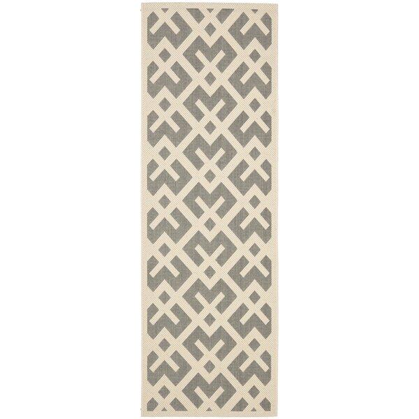 Sherree Handwoven Flatweave Gray/Bone Indoor/Outdoor Area Rug
